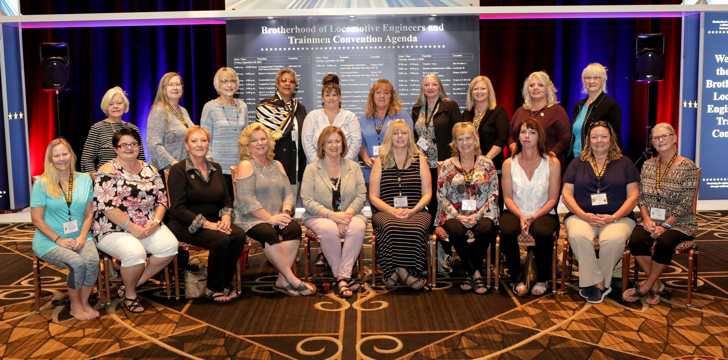 Officers and Delegates to the 2018 National Convention