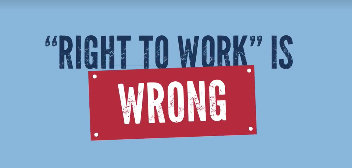 Right to work is wrong for the American Worker.  Click on the image to take you to the Bill before Congress and watch the progress.  We need to stop the war on the American Middle Class